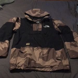 Real North Face Dryvent Camo Half Zip Jacket
